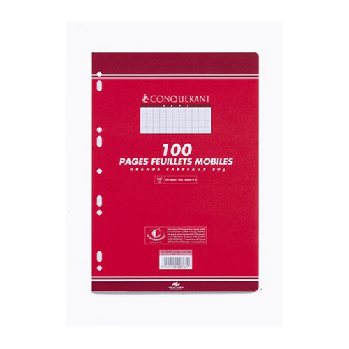 PAQUET 100 FEUILLETS MOBILES A4 SEYES