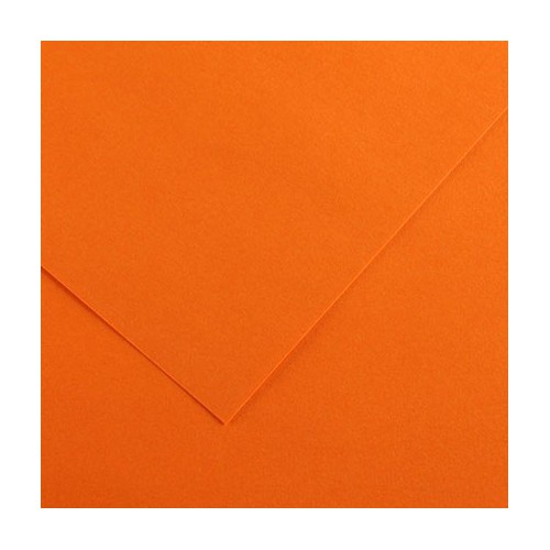 FEUILLE VIVALDI 50X65 240G ORANGE