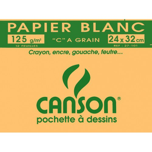 POCH 12F DESSIN 24X32 CANSON 125G