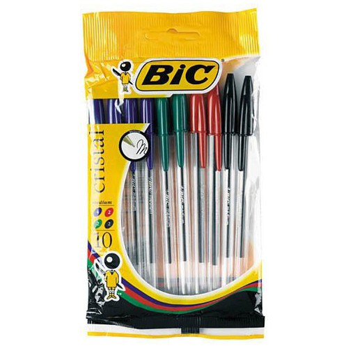 STYLO BILLE CRISTAL 1MM ASSORTIS