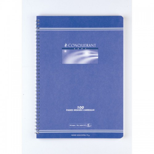CAHIER SPIRALE A4 100P SEYES 70G