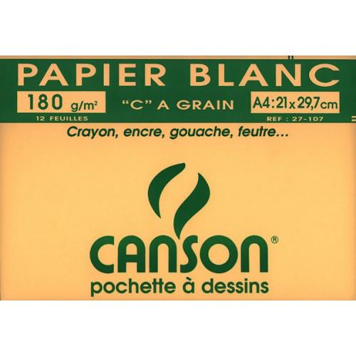 POCH 12F A4 DESSIN CANSON 180G