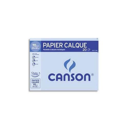 POCH 12F CALQUE 24X32 CANSON 70G