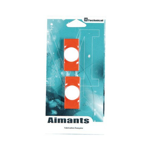 AIMANT RECTANGLE 23X50MM ROUGE