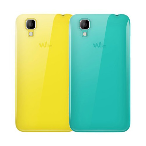 LOT 2 COQUES WIKO SUNSET JAUNE TURQUOISE