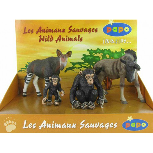 BTE 4 FIGURINES ANIMAUX SAUVAGES 1