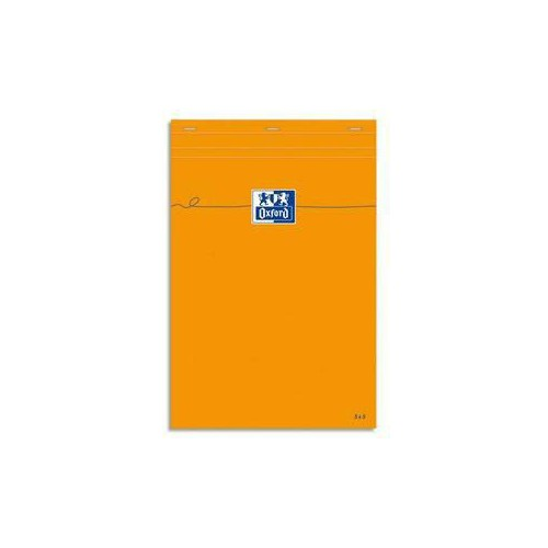 BLOC NOTES 14X21 160P ORANGE Q5X5
