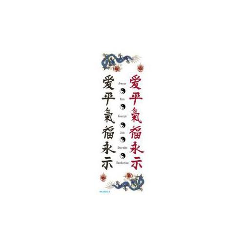 TRANSFERT DECO 7X21 CALLIGRAPHIE CHINOIS