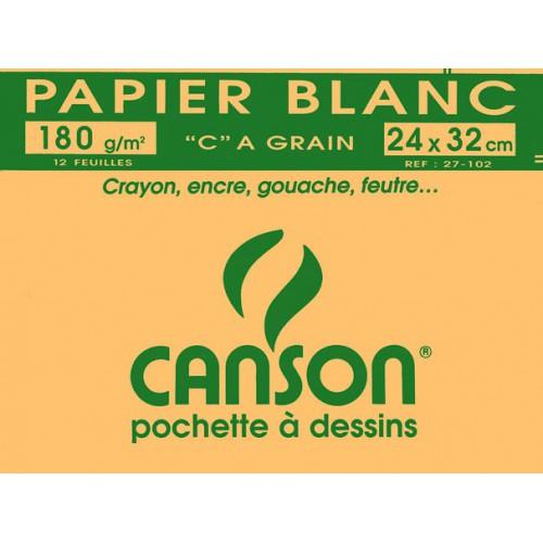 POCH 12F DESSIN 24X32 CANSON 180G