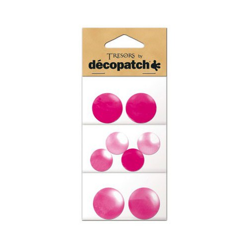CABOCHONS ROND ROSE