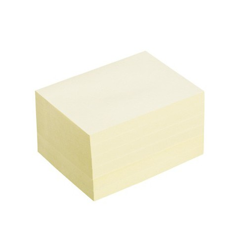 LOT 12 POST IT NOTES 76X102MM JAUNE