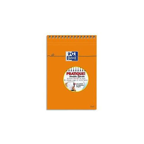 BLOC NOTES 21X31 160P ORANGE Q5X5 80G