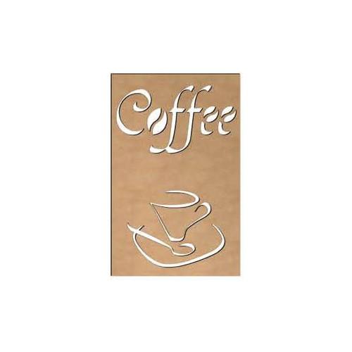 TABLEAU AJOURE BOIS 58X38CM COFFEE