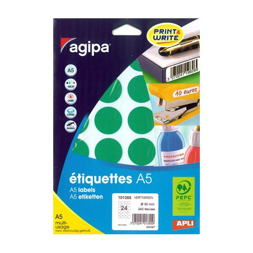 ETIQUETTE A5 X 240 DIAM30MM VERT