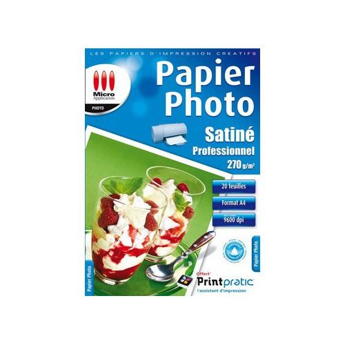 PACK 20F A4 PAPIER JET D'ENCRE PHOTO PRO