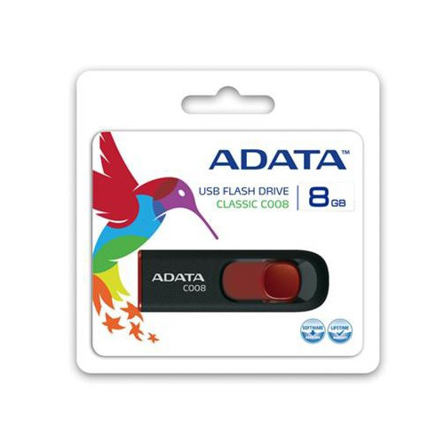 CLE USB 8GO ADATA CLASSIC C008 NOIR