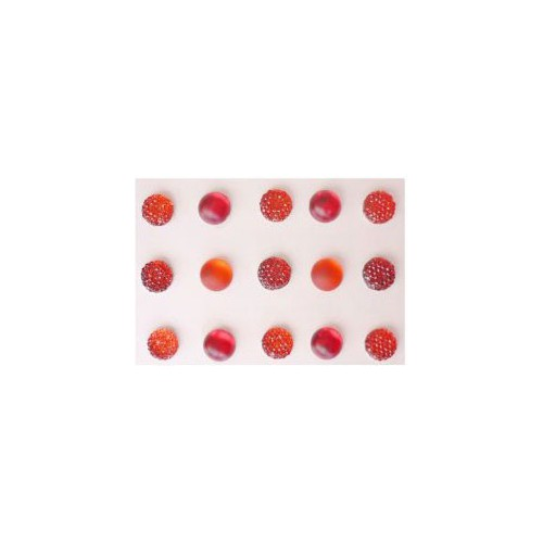 STRASS ADHESIF X 15 GIVRE ROUGE