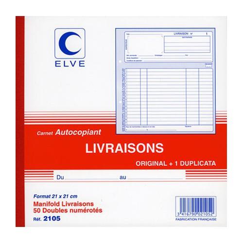 MANIFOLD LIVRAISONS 21X21 DUPLI NCR