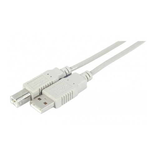 CABLE USB2.0 TYPE A MALE - B MALE 3M