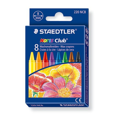 ETUI 8 CRAYONS CIRE NORIS CLUB BRILLANT