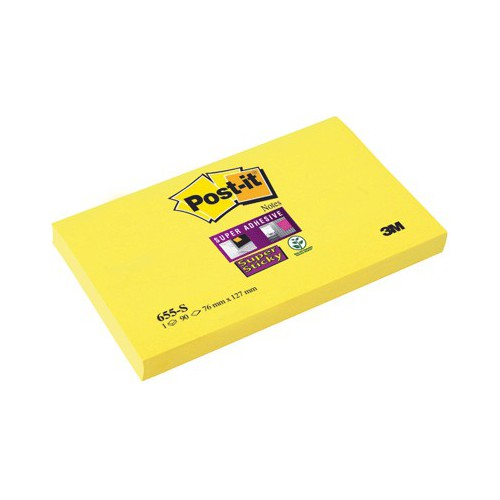 BLOC 90 POST IT NOTES 76X127MM STICKY