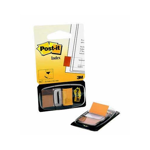 CARTE 50 MARQUE PAGE POST IT ORANGE