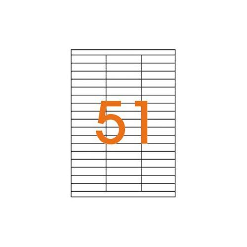 ETIQUETTE A4 X 5100 70X16.9MM BLANC