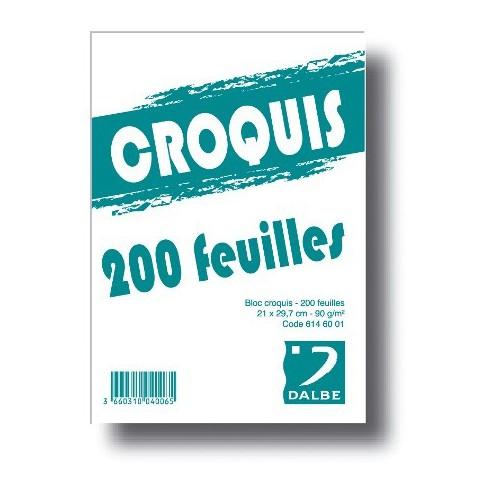 BLOC CROQUIS A4 ECO 90G
