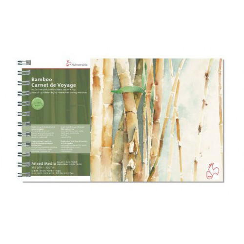 CARNET VOYAGE 15X25CM BAMBOO 265G