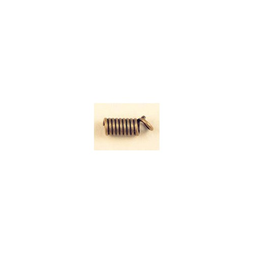 SAC.4 EMBOUTS LACET SPIRALE BRONZE