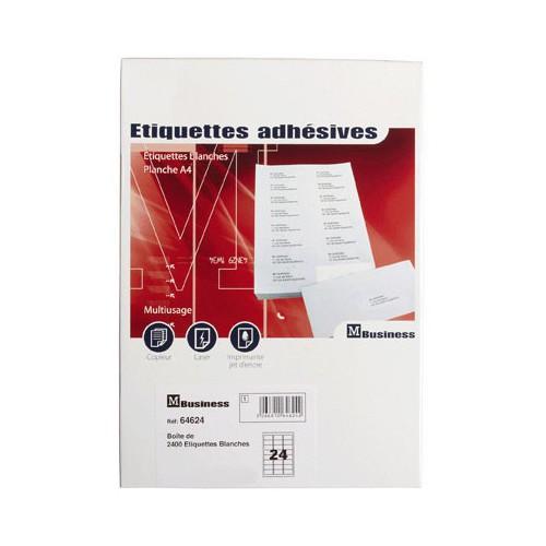 ETIQUETTE A4 X 2400 64X34MM ADRESSE