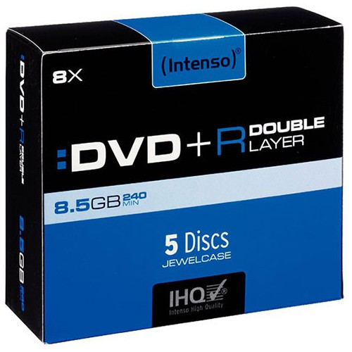 PACK 5 DVD+R DL 240MN 8.5GO 8X INTENSO