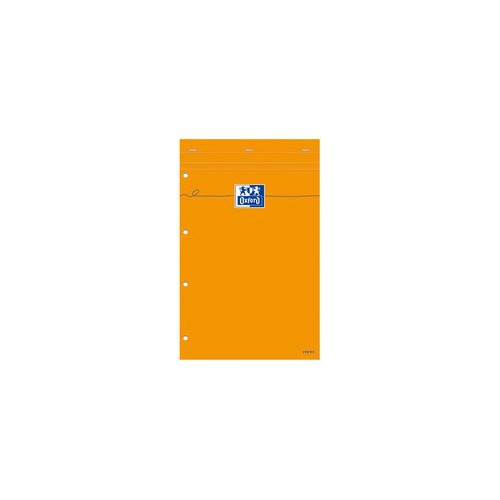 BLOC NOTES 21X31 160P ORANGE SEYES 80G