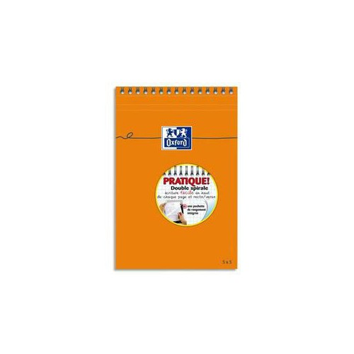 BLOC NOTES 14X21 160P ORANGE UNI 80G