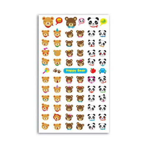 STICKERS FUNNY HAPPY BEAR