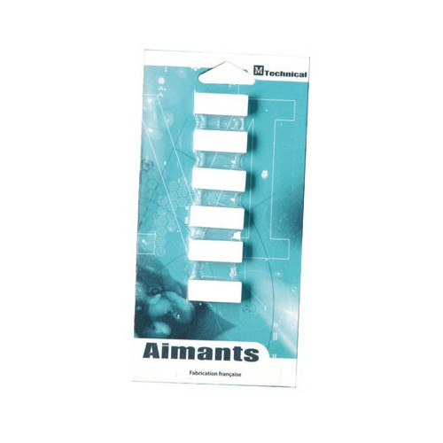 AIMANT RECTANGLE 12X25MM BLANC