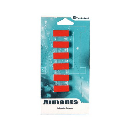 AIMANT RECTANGLE 12X24MM ROUGE
