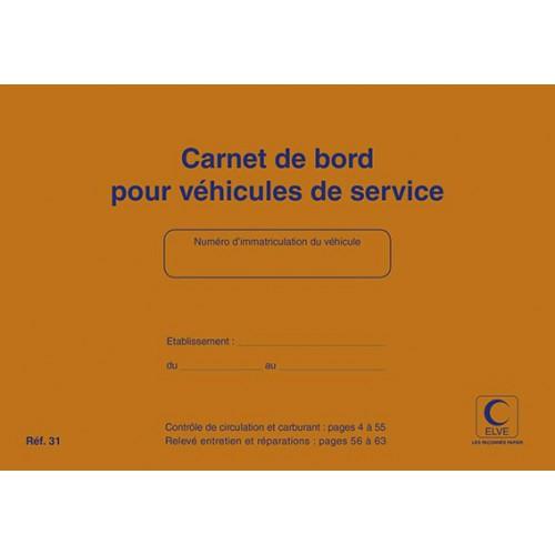 CARNET DE BORD VEHICULE DE SERVICE