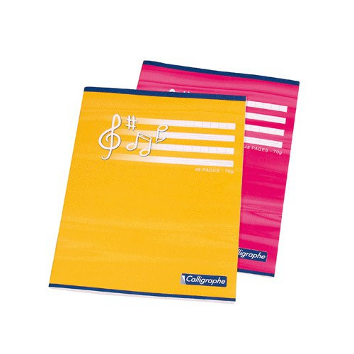 CAHIER MUSIQUE CHANT 17X22 48P SEYES 70G