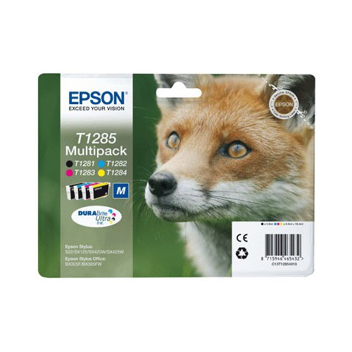 PACK 4 CARTOUCHES JET ENCRE EPSON T1285