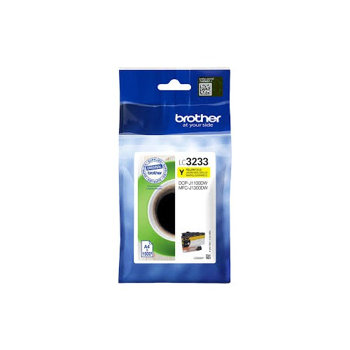 CARTOUCHE JET ENCRE BROTHER LC3233 JAUNE