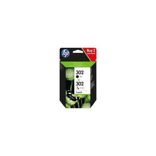 PACK 2 CARTOUCHES JET ENCRE HP 302