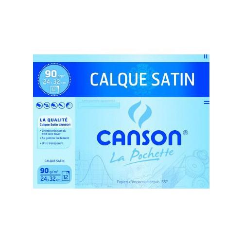 POCHETTE 12F CALQUE 24X32 90G CANSON