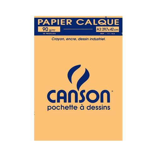 POCHETTE 10F CALQUE A3 90G CANSON 90G