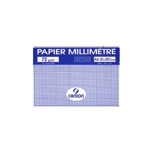 POCHETTE 12F MILLIMETRE A4 90G BLEU