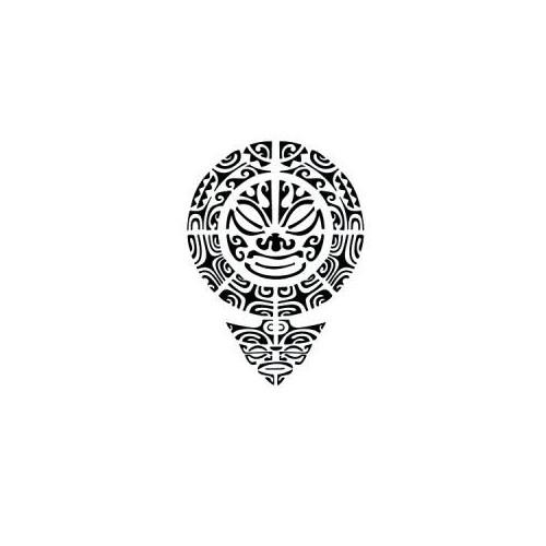 POCHOIR ADHESIF A4 MANDALA MAORI