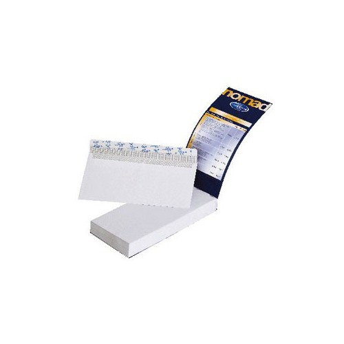 CARNET 50 ENVELOPPES BLANCHES 114X162MM