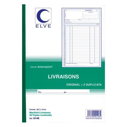 MANIFOLD LIVRAISONS A4 TRIPLI NCR