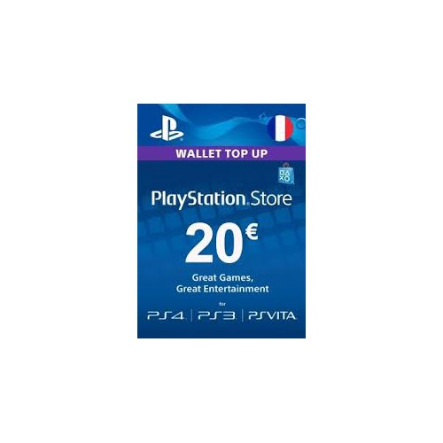 CARTE ABONNEMENT SONY PS4 20 EUROS