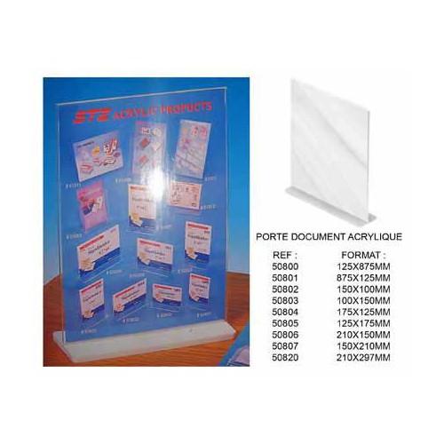 PORTE AFFICHE 8.75X12.5CM ACRYLIQUE